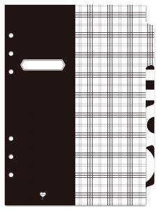 デザインインデックス(ブラック) システム手帳