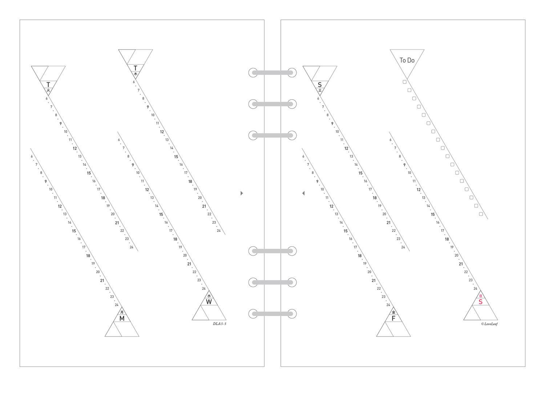 A5 システム手帳 リフィル ウィークリー バーチカル