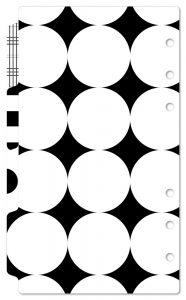 バイブルサイズ デザインインデックス ブラック